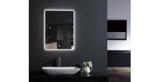 Spade Wall Mirror With Light & Digital Clock