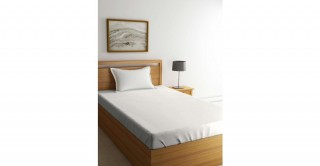 طقم ملاءات سرير لغرف الأطفال،  مقاس 90 × 200 سم -أبيض