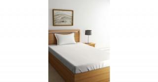 طقم ملاءات سرير لغرف الأطفال،  مقاس 120 × 200 سم - أبيض