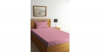 طقم ملاءات سرير لغرف الأطفال، مقاس 90 × 200 سم -وردي
