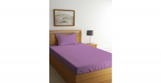 طقم ملاءات سرير لغرف الأطفال، مقاس 90 × 200 سم- بنفسجي فاتح