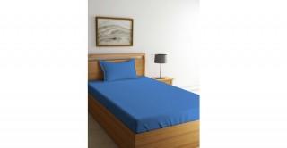 طقم ملاءة سرير لغرف الأطفال، 90 × 200 سم -أزرق صدفي
