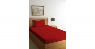 طقم ملاءات سرير لآسرة الأطفال، أحمر مقاس 90x200 سم
