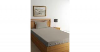 طقم ملاءات سرير لغرف الأطفال،  بني فاتح (لون الحجر) مقاس 120 × 200 سم