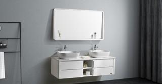 خزانة مزدوجة مع حوض ومرآة من ديانا