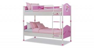 سرير بطابقيّن لغرف الأطفال إس إل برنسيس- زهري